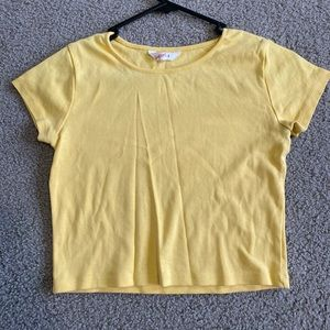 plain simple yellow cropped top from supre